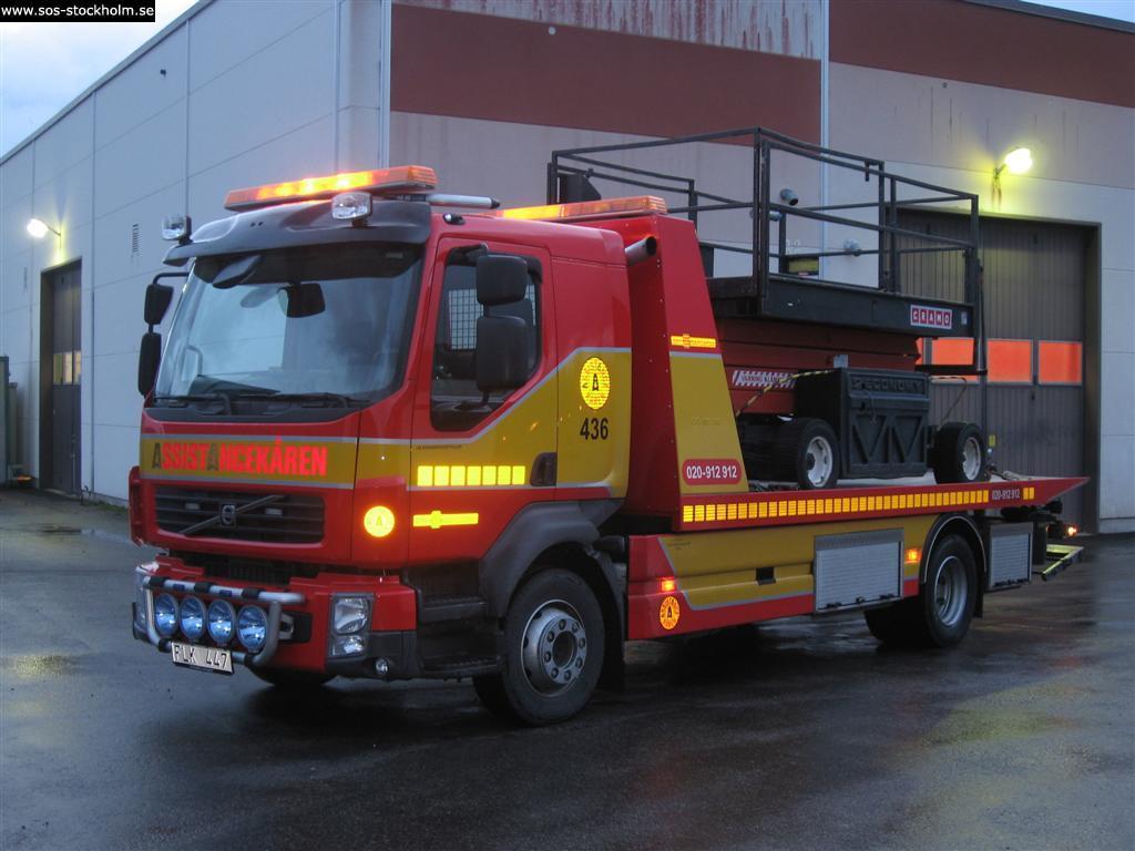 transport av bärgningsbilar